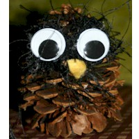 Wise Guy Owl Pine Cone Craft - Kids Crafts
