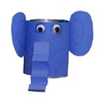 Recyled Elephant Pencil Holder - Kids Crafts