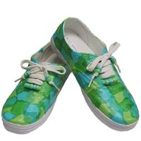 Decoupage Sneakers - Kids Crafts