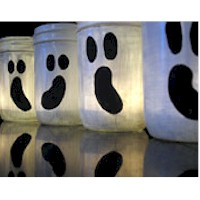 Easy Ghost Luminaries - Kids Crafts