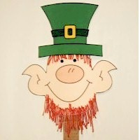 Leprechaun Puppet - Kids Crafts