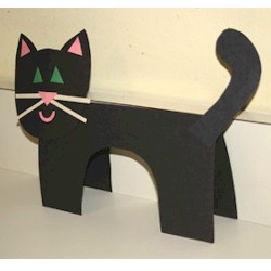 Standup Cat - Kids Crafts