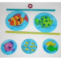 Tahitian Fish Mobile - Kids Crafts