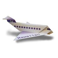 Folded Paper Airliner - Kids Crafts