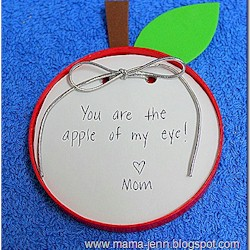 Apple Of My Eye Note Pad - Kids Crafts