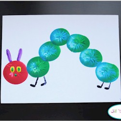 Balloon Print Very Hungry Caterpillar - Kids Crafts