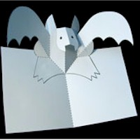 Pop Up Bat - Kids Crafts