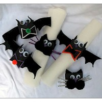 Bats and Cats Napkin Ring - Kids Crafts