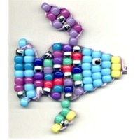 Colorful Beaded Rainbow Fish Craft