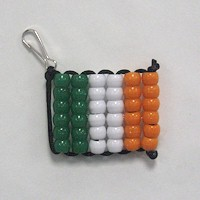 Beaded Irish Flag Craft