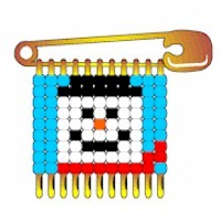 Beaded Snowman Pin - Kids Crafts