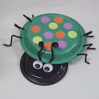 Paper Plate Beetle - Kids Crafts
