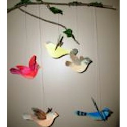 Watercolor Bird Mobile Craft