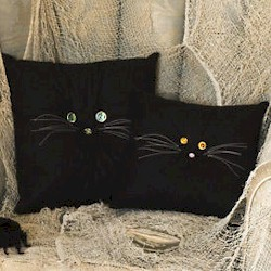 Black Cat Pillows Craft