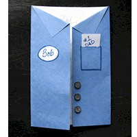 Fathers Day Uniform Shirt Card - Kids Crafts