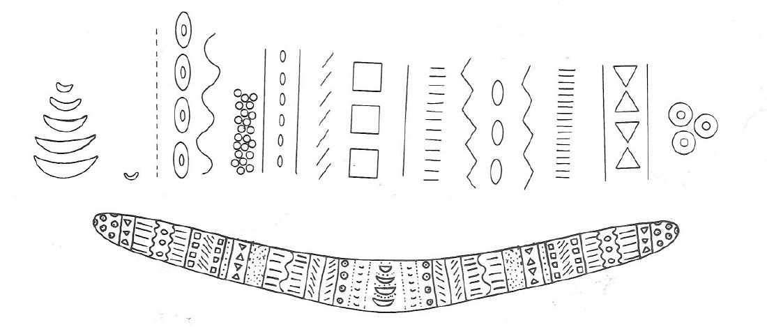 Aboriginal Boomerang Template