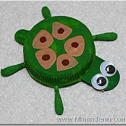 Bottle Cap Turtle Craft