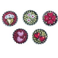 Bottle Cap Valentine Pins Craft