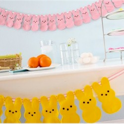 Bunny Peeps Bunting - Kids Crafts