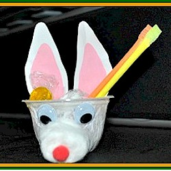Bunny Snack Cups - Kids Crafts