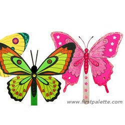 Summer Butterfly Fan - Kids Crafts