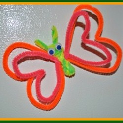 Pipe Cleaner Butterfly Magnet - Kids Crafts