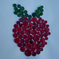 Button Apple Craft