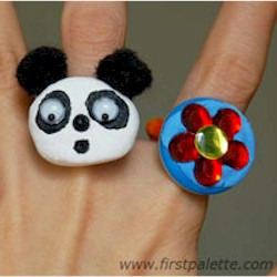 Easy Button Rings - Kids Crafts
