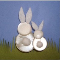 Button Bunnies Craft