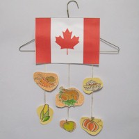Canadian Thanksgiving Mobile - Kids Crafts