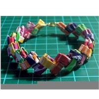 Candy Wrapper Bracelet Craft