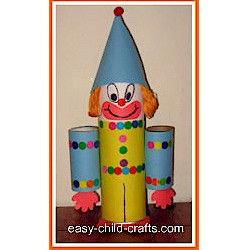 Cardboard Tube Clown - Kids Crafts