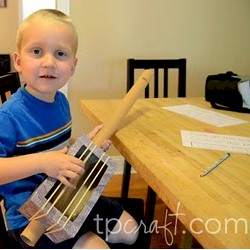 Cardboard Tube Guitar - Kids Crafts