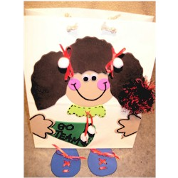 Cheerleader Gift Bag - Kids Crafts