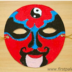 Chinese Opera Mask - Kids Crafts