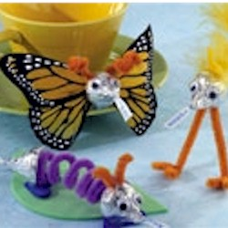 Candy Kiss Butterfly and Katerpillar - Kids Crafts