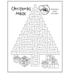 Christmas Maze - Kids Crafts