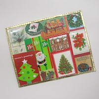 Recycled Christmas Card Placemats - Kids Crafts