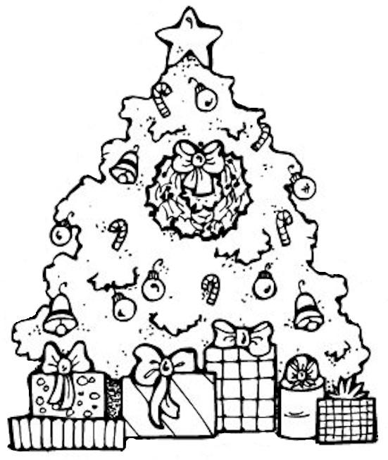 рамки - Всичко от хартия и картон - Page 3 Christmas_tree_bw