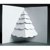 Christmas Tree Pop Up Card - Kids Crafts