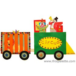 Circus Train - Kids Crafts