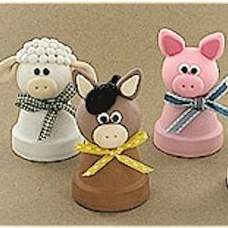 Clay Pot Farm Animals Craft