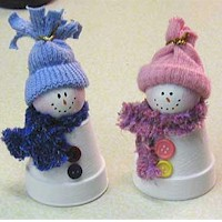 Claypot Snowmen - Kids Crafts