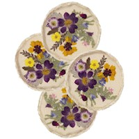 Coasters with Pressed Flowers - Kids Crafts