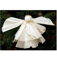 Coffee Filter Angel - Kids Crafts