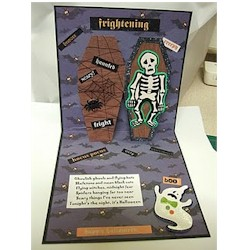 Ghoulish Pop Up Coffin Card - Kids Crafts