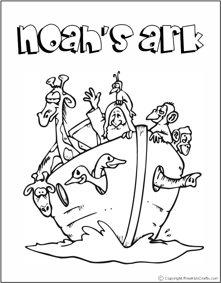 noahs ark coloring pages story - photo#35
