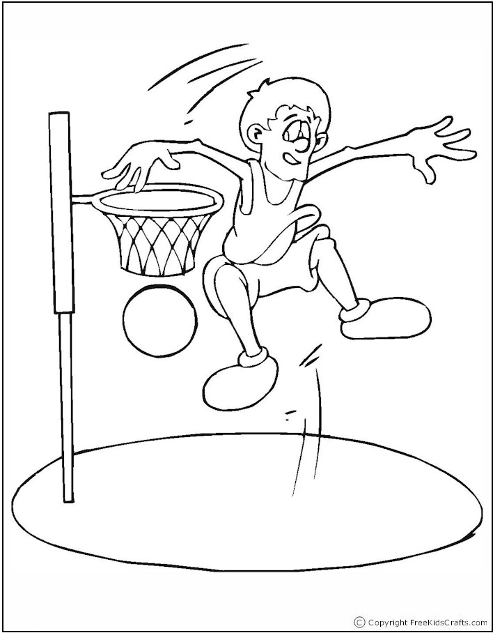 Basketball Player Coloring Pages Free Printable Pictures Basketball Coloring Page
