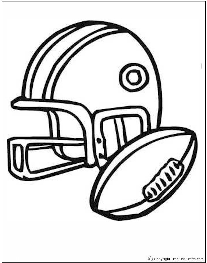 free printable football coloring pages - Football Coloring Book