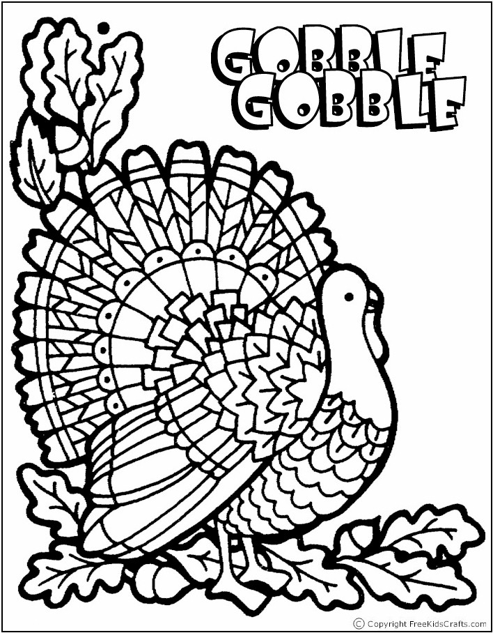 Dramatic image with free printable turkey coloring pages